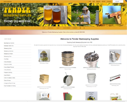 Beekeeping Equipment website design