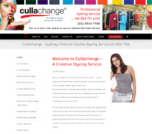 Cullachange clothes dying service
